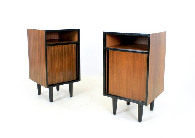 Pair of Mid Century Nightstands by John and Sylvia Reid for Stag Furniture by SputnikFurnitureLLC
