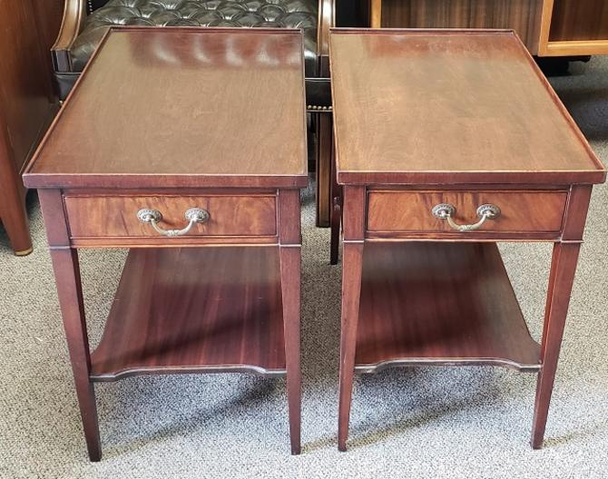 Item #NL37 Pair of Traditional Mahogany Sofa / End Tables c.1940s