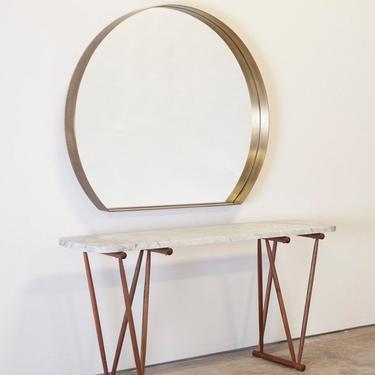 Custom Brass Round Mirror- Benjamin- Olivr Studio by OlivrStudio
