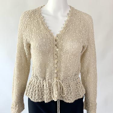 Oatmeal Crochet Cardigan