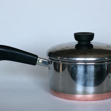 vintage revere ware 1.5 quart saucepan copper bottom made in clinton illinois 1996 by suesuegonzalas