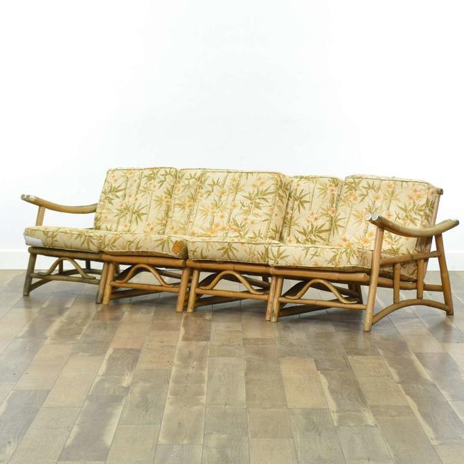 Vintage Tiki Bentwood Modular Sectional Sofa