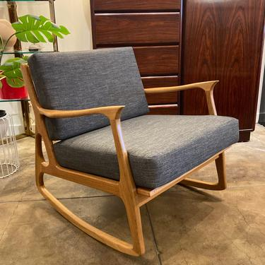 Blonde Rocking Chair