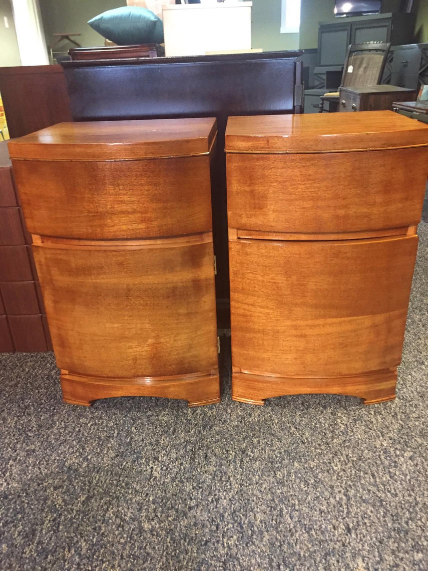 Art deco nightstands by agentupcycle from agent upcycle for Art deco furniture chicago
