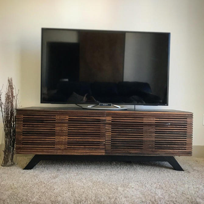 Mid century modern TV console, TV stand, TV unit, entertainment center, media unit, media console, tv cabinet, entertainment stand by WoodbeeWoodworks