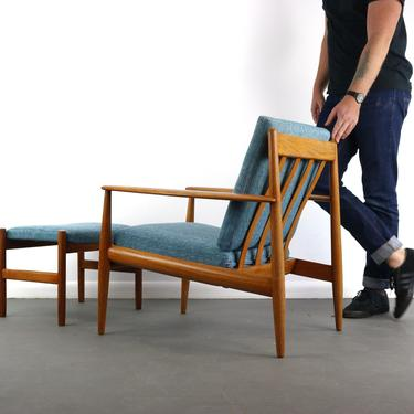 Danish Mid Century Modern Easy Chair , Model 118 , in Teak by Grete Jalk for France and Sons, 1960s by ABTModern