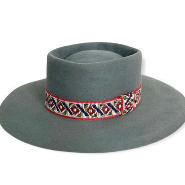 Vintage BOYD HAT CO Cowboy Hat ~ size 7 1/4 ~ Cowboy ~ 5X Beaver ~ Fur Felt Fedora ~ Wide Brim ~ Gambler by SparrowsAndWolves