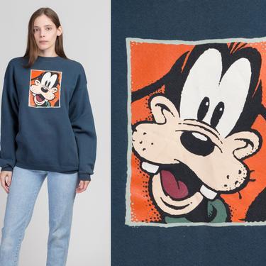 90s Goofy Sweatshirt - Men's Large, Women's XL   Vintage Disney Store Cartoon Unisex Pullover by FlyingAppleVintage