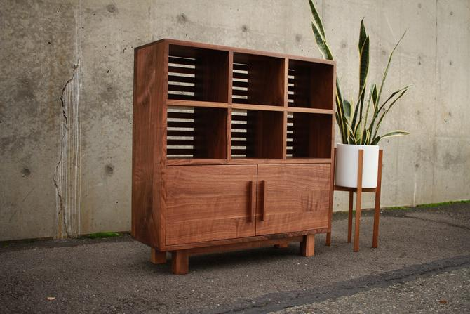 Display Cabinet, Solid Wood, Media console, media storage (shown in walnut) by TomfooleryWood