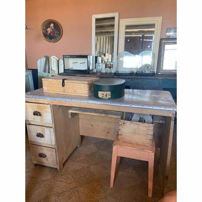 Zinc Top Desk