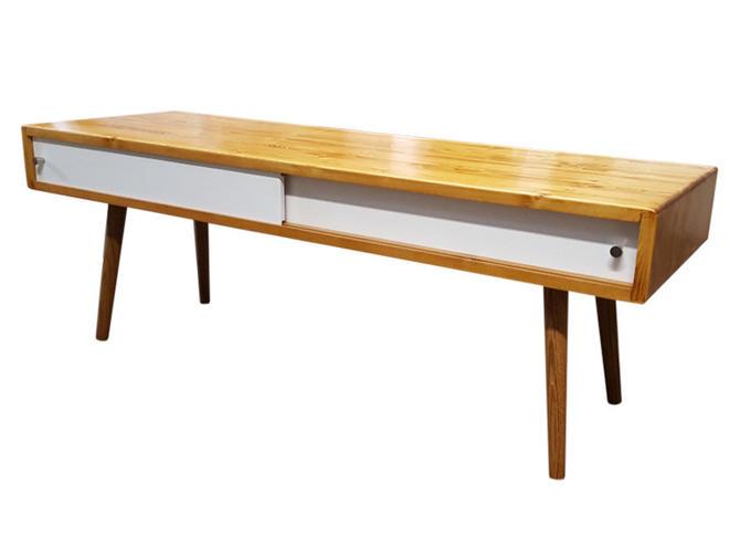 Mid Century Coffee Table Modern Coffee Table with Doors by OrWaDesigns