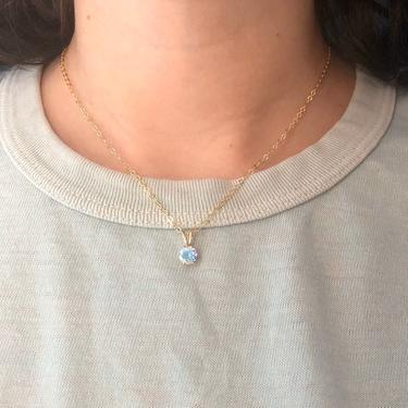 Prism Topaz Pendant in 14k gold filled sparkling disco ball iridescent gemstone prong pendant by RachelPfefferDesigns
