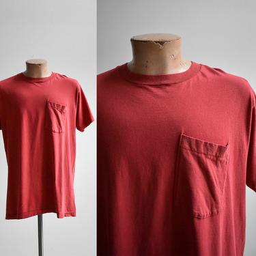 1980s Faded Red Pocket Tee by milkandice