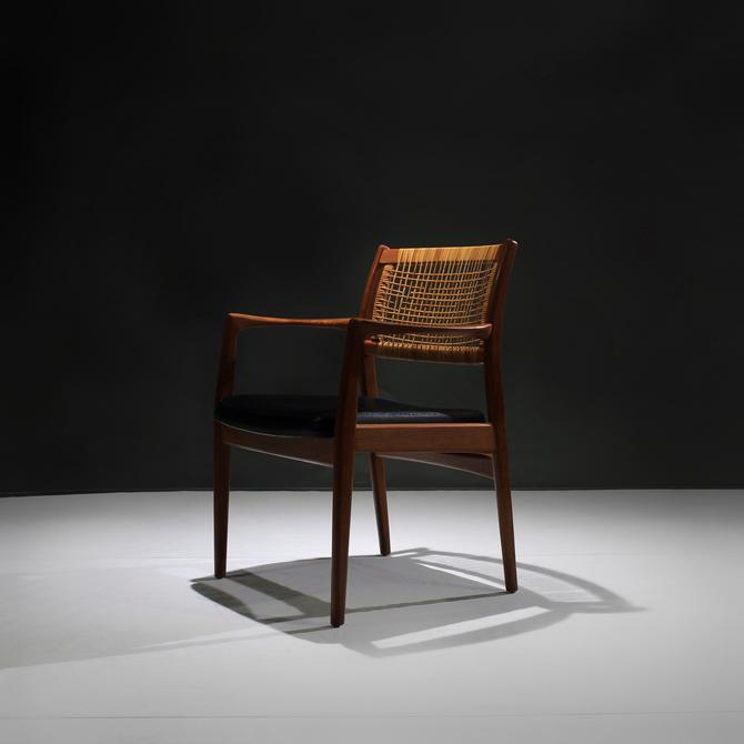 Mid Century Teak and Cane Chair by Sylve Stenquist for Dux- Armchair by ReVisionFurniture