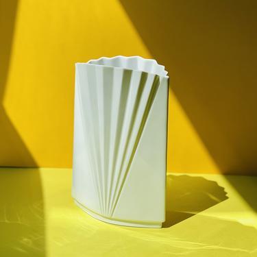 Vintage Mikasa Deco Revival Fan Vase