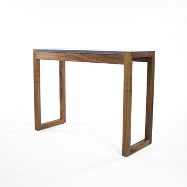George Modern Concrete, Walnut or Ash Office Desk by CrumpandKwash