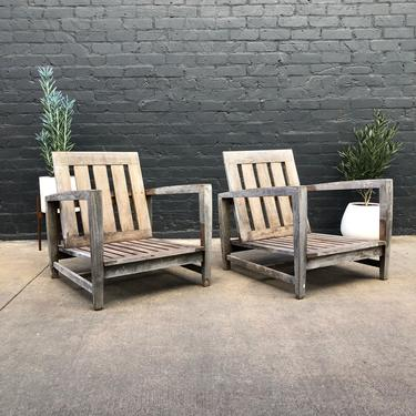 Pair of Vintage Team Outdoor Patio Lounge Chairs by VintageSupplyLA