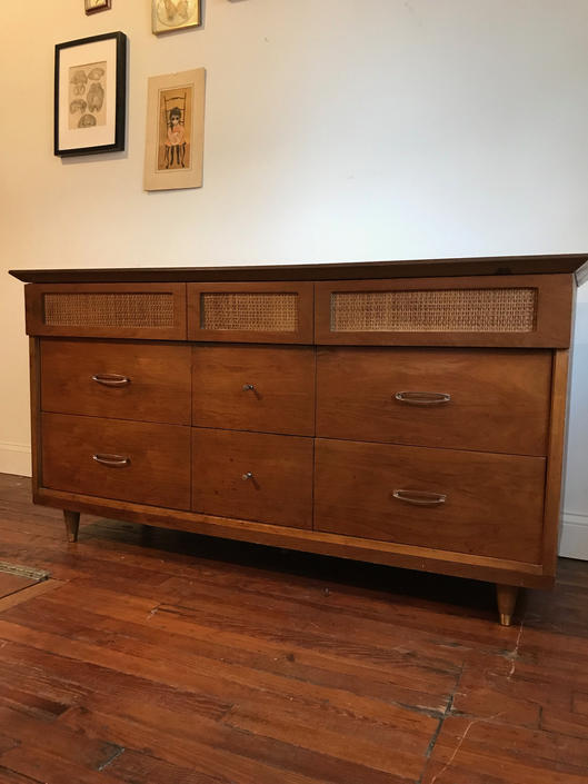 mid century dresser mid century modern triple dresser mid century low dresser by VintaDelphia