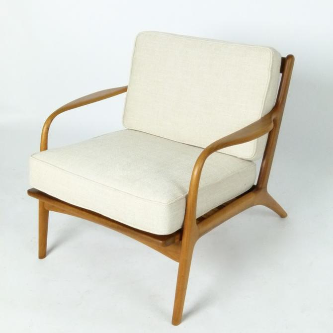 Open Frame Walnut Lounge Chair