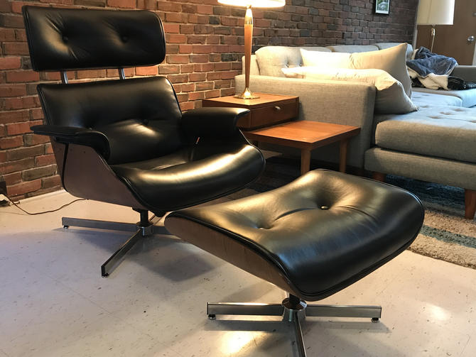 Eames-Style MCM Lounge Chair & Ottoman by MidCenturyModHome