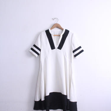 Flouncy White Sailor Dress by LooseGoods