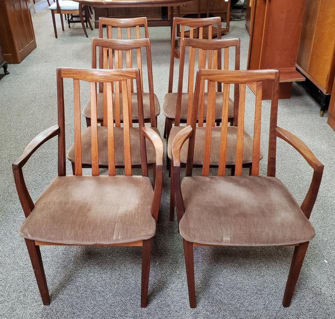 """Item #MA31 Set of Six """"G-Plan"""" Dining Chairs c.1960"""