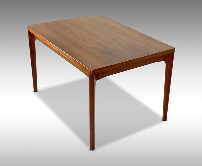 Vejle Stole Afromasia Teak Draw Leaf Dining Table, Circa 1960s - *Please ask for a shipping quote before you buy. by CoolCatVintagePA