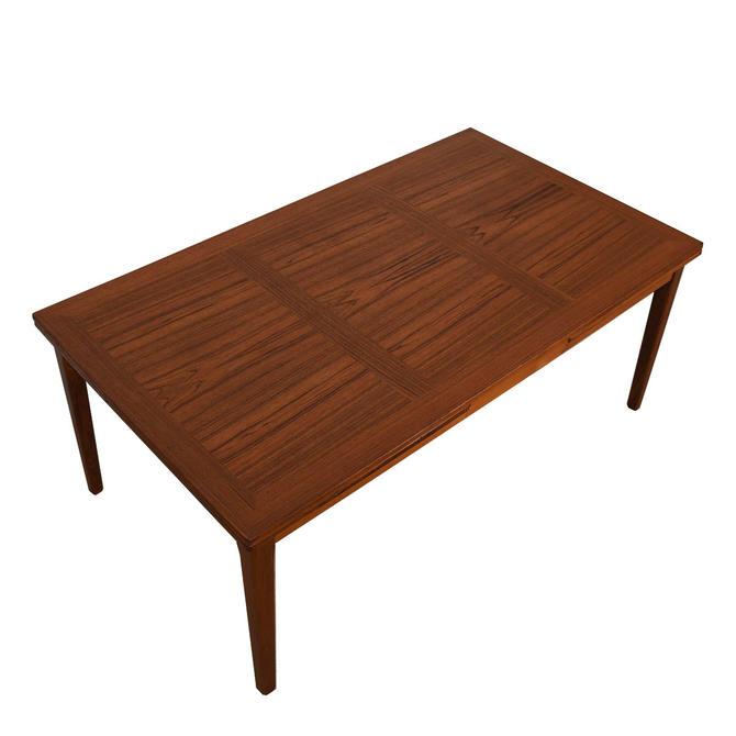 Large Danish Modern Teak Expanding Dining Table
