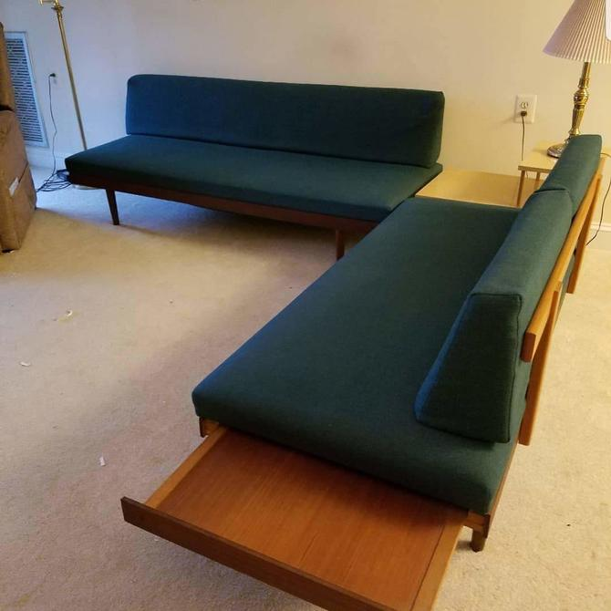 Danish Modern Two-Piece Couch Set