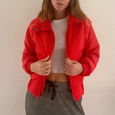 Slalom orange puffer coat by ToxicPonyVintage