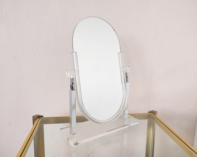 Lucite Vintage Pivoting Vanity Mirror by IridiumInteriors