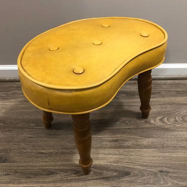 Mid Century Kidney Footstool Ottoman by MadModWorldVintage