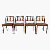 Set of 4 Danish Modern Rosewood Niels Moller #83 Dining Chairs