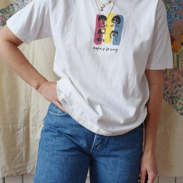 Vintage Esprit Graphic T | 1980s Esprit de Corp. Cotton Knit Tee | Tshirt |  M by wemcgee