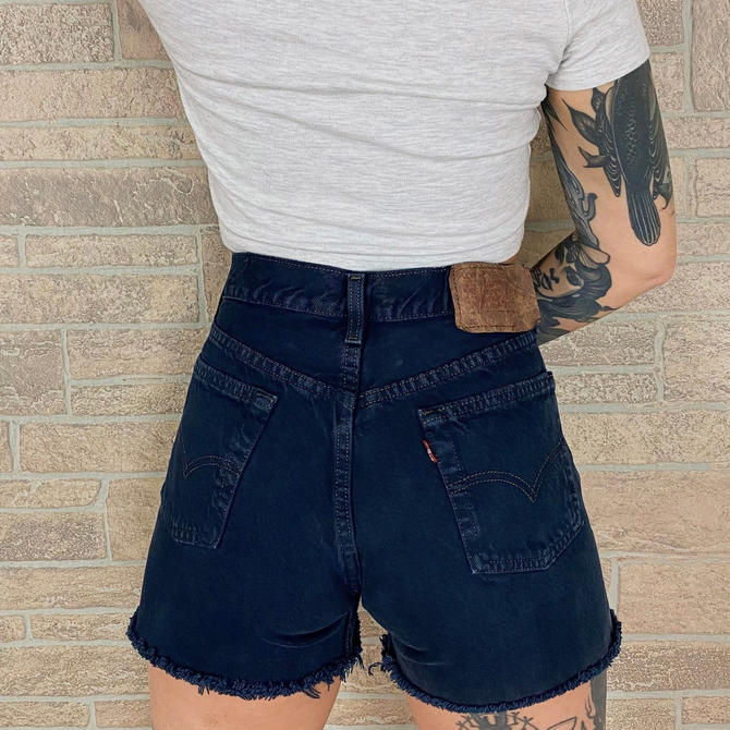 Levi's 701 Student Fit Navy Shorts / Size 27 28 by NoteworthyGarments