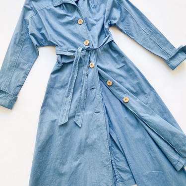 1970s Cotton Over-Dyed Duster and Bell Bottoms Matching Set by waywardcollection