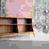 Walnut Bookcase by Kipp Stewart for Drexel 'Declaration'
