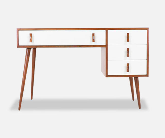 Stanley Young Lacquered & Walnut Writing Desk for Glenn of California