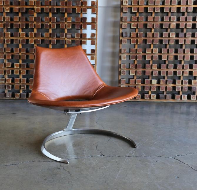Preben Fabricius & Jørgen Kastholm Scimitar Chairs by Ivan Schlecter circa 1965