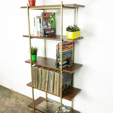 """Walnut & Gold Shelf- 30"""" by CaliforniaMWoodworks"""