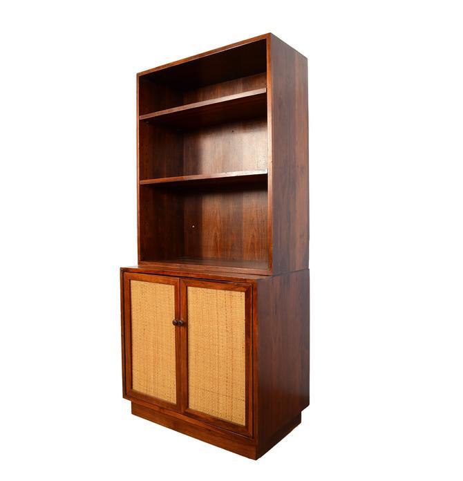 Walnut Wall Bookcase Cabinet Mid Century Modern by HearthsideHome