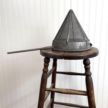 Restaurant quality vintage chinois cone strainer - vintage kitchen metal by NextStageVintage