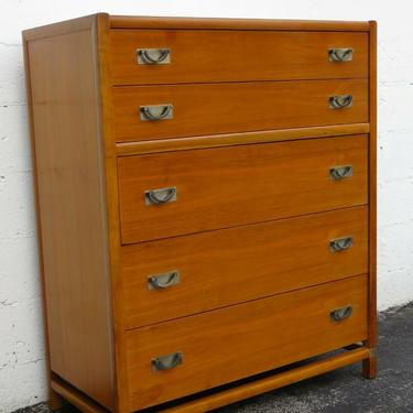 Mid Century Modern Tall Chest of Drawers by Hickory 2425