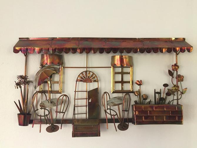 Mid-Century Modern C. Jere Style Bistro Copper Wall Art by ModandOzzie