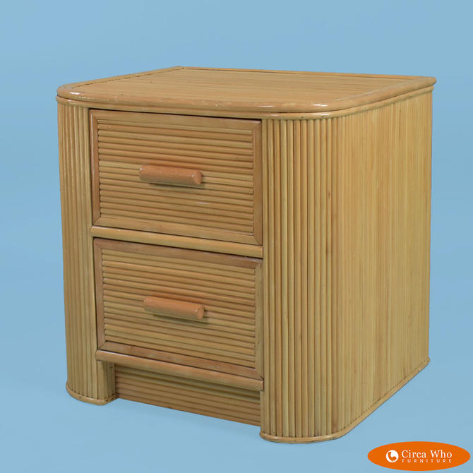 Single Pencil Reed Nightstand