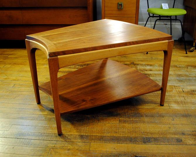 1960 S Walnut Wedge Shaped End Table By Lane From Circa Of