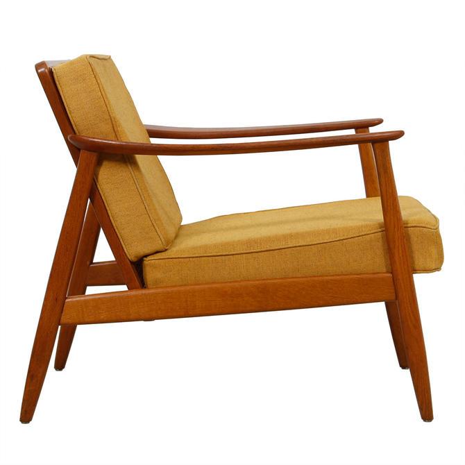 Ashley Furniture Washington Dc: Hans Olsen Danish Teak Arm Chair W/ Rattan Back From