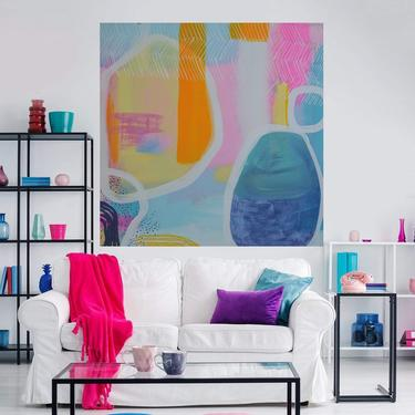 "Custom Order for ERICA-Minimal Wall Art, Modern Decor, 24""x48"" Canvas Painting Abstract Minimalist Modern Original Commission Art by ArtbyDinaD"