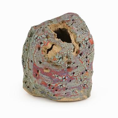Chris Heck Sculptural Vase Ceramic Vintage Fine Art Ceramics by VintageInquisitor