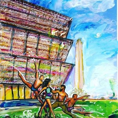 Juneteenth Illustration featuring the National Museum of African American History and Culture by Cris Clapp Logan by CrisLoganArt